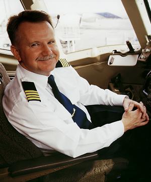 Kapitan Jerzy Makuła, dowódca B767 na lotach międzykontynentalnych.