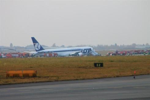 Ewakuacja pasażerów i załogi.